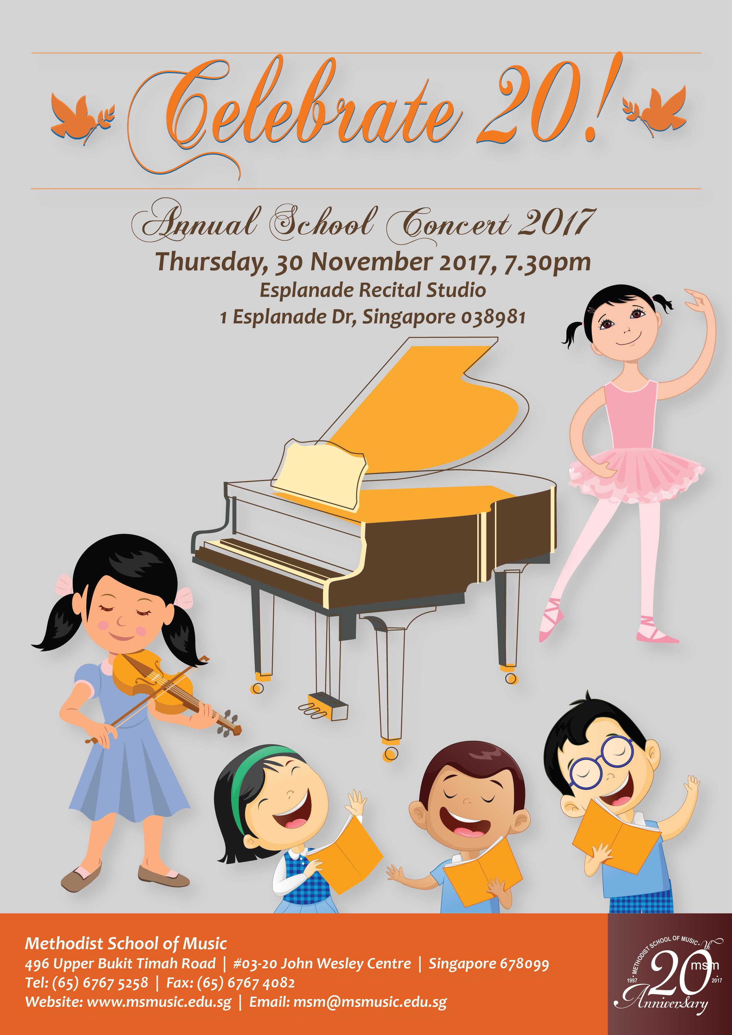 Annual School Concert – Celebrate 20!