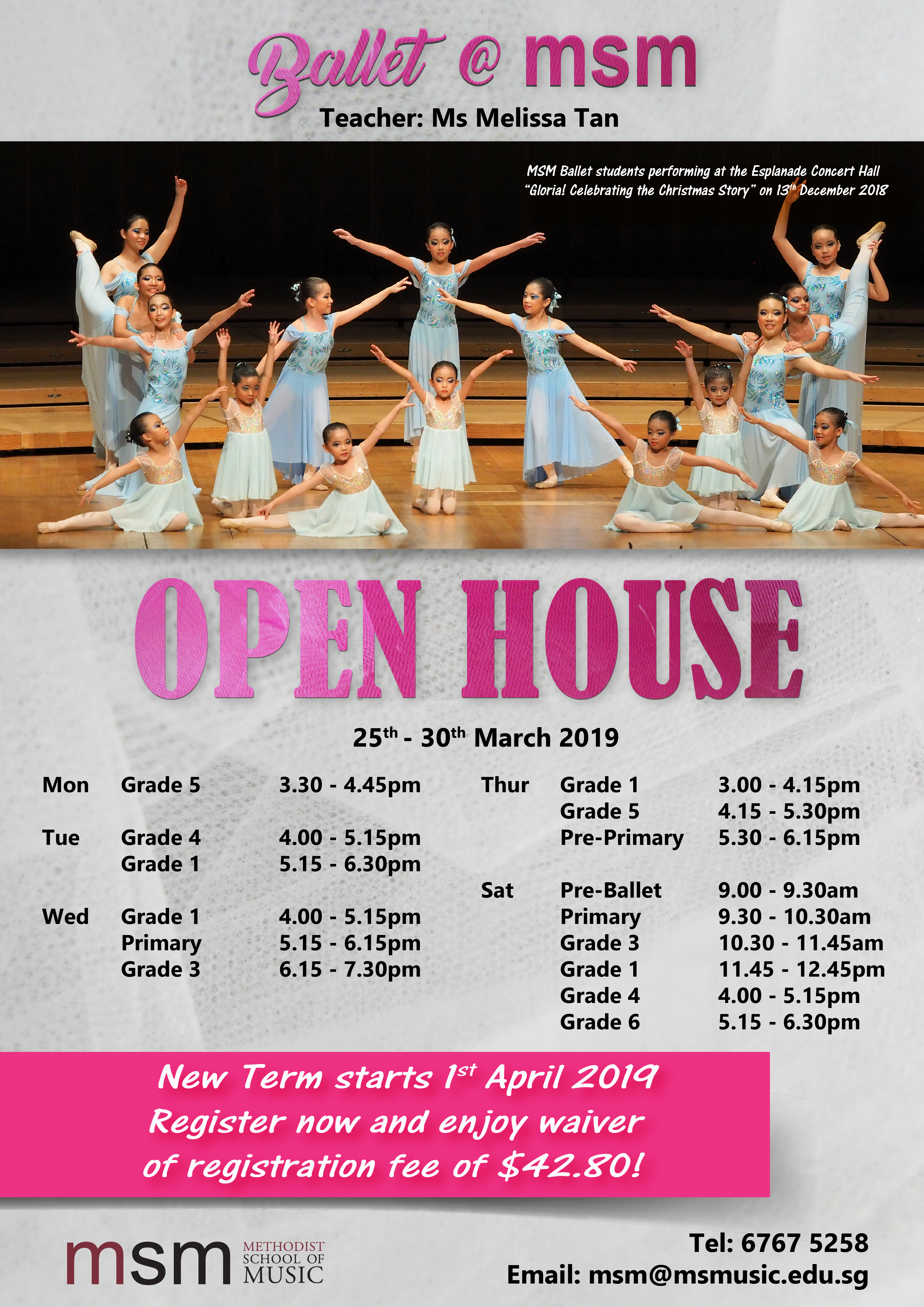 Ballet @ MSM – OPEN HOUSE