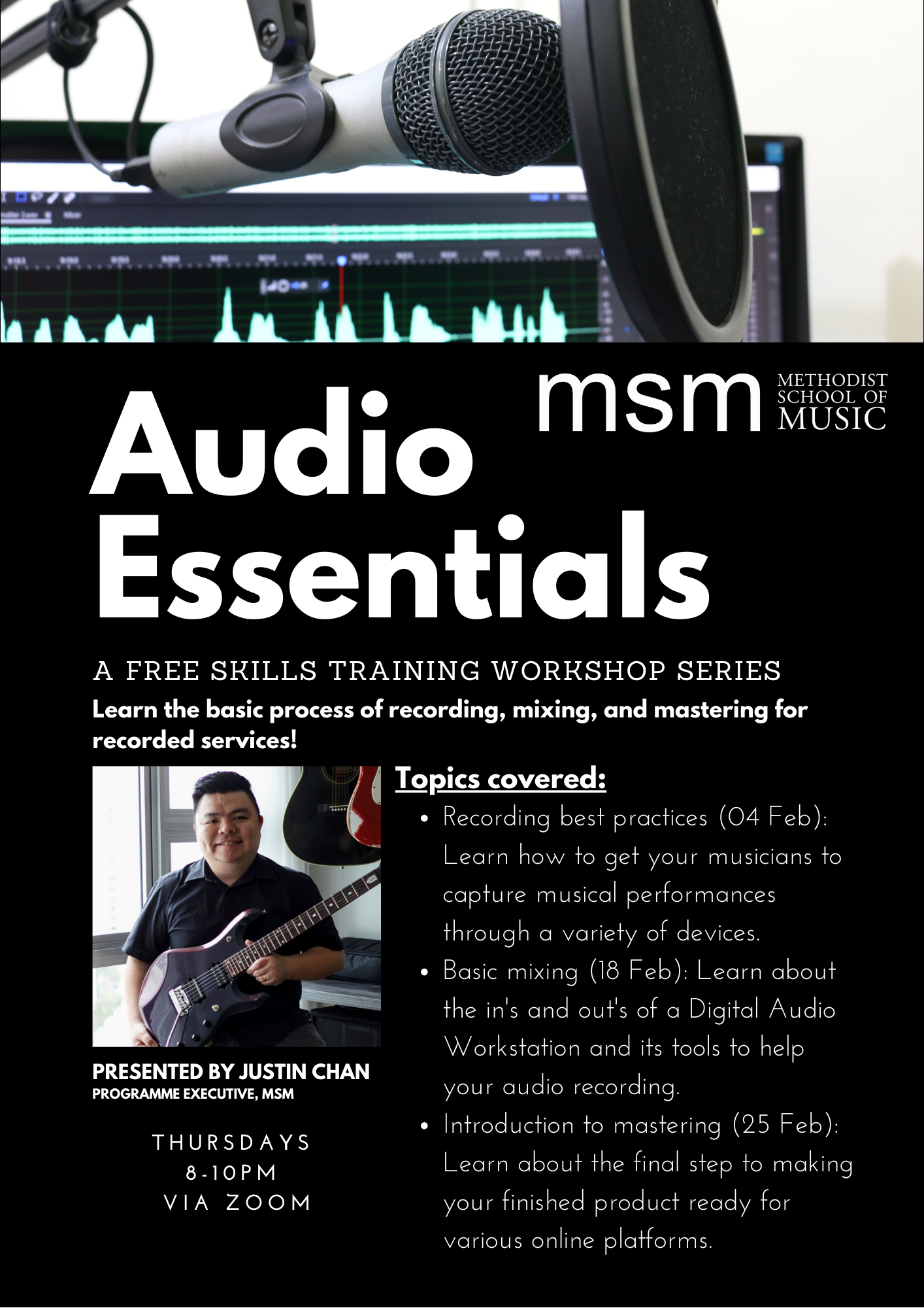 Audio & Video Essentials: A Free Skills Training Workshop Series